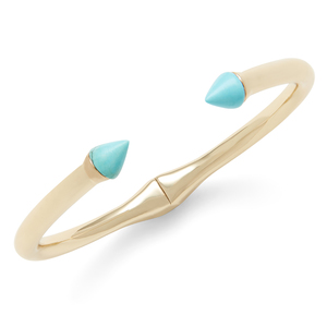SLATE Porter Hinge Cuff in Turquoise