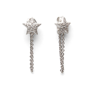 Sophie Harper Star Studs with chain drop in Silver