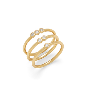 Sophie Harper Pave Circle Ring Set