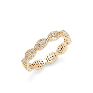 Sophie Harper Micro Pave Scalloped Ring