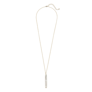 Ava Rose Austin Necklace in Gold and Mother of Pearl