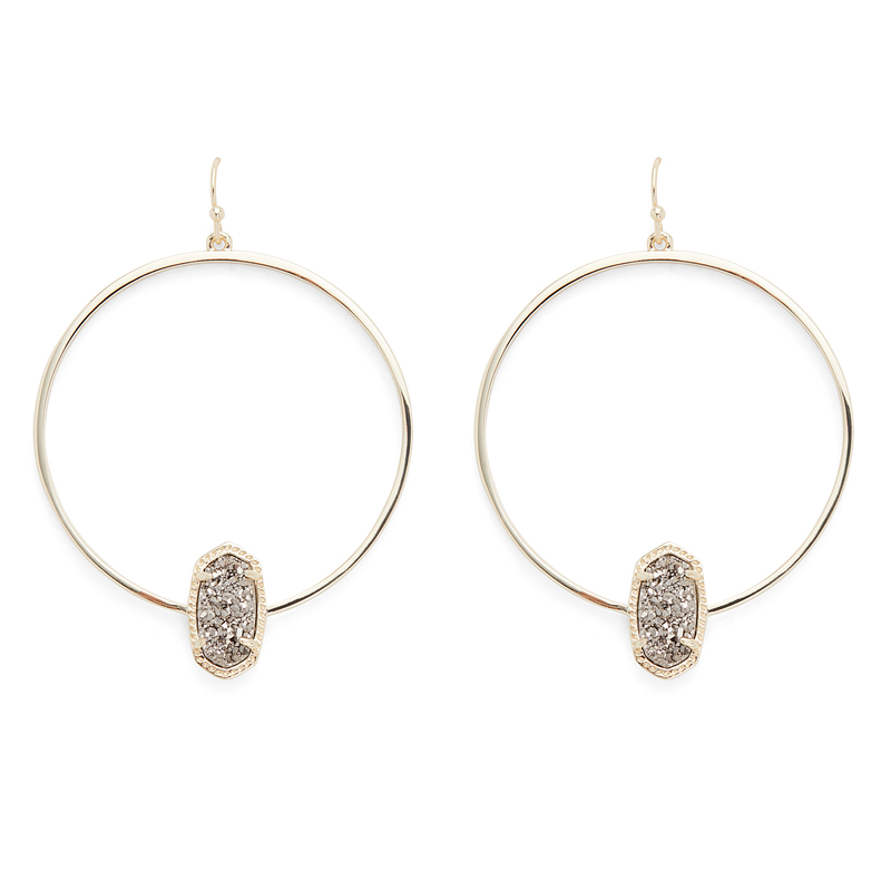 Kendra Scott Elora Earrings in Gold and Platinum Druzy