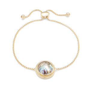 Ava Rose Cheyenne Bracelet in Gold with Abalone