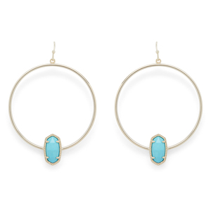 Kendra Scott Elora Earrings in Gold and Turquoise
