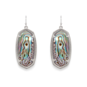Kendra Scott Elle Earrings in Rhodium and Abalone