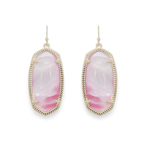 Kendra Scott Elle Earrings in Gold and Blush Mother of Pearl