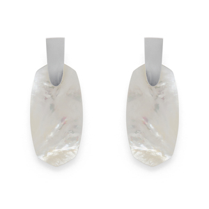 Kendra Scott Aragon Earrings in Silver and Ivory Mother Of Pearl