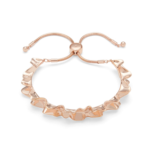 Kate Spade Frilled to Pieces Slider Bracelet in Rose Gold