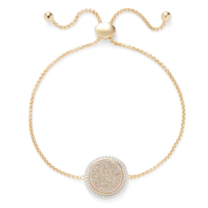 Ava Rose Cheyenne Bracelet in Gold with Iridescent Druzy