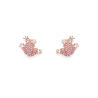 Kate Spade Swamped Pave Frog Studs