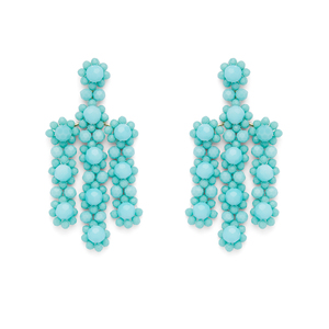 Kate Spade The Bead Goes on Statement Earring in Turquoise