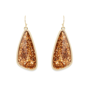 Ava Rose Aurora Earrings in Crushed Gold