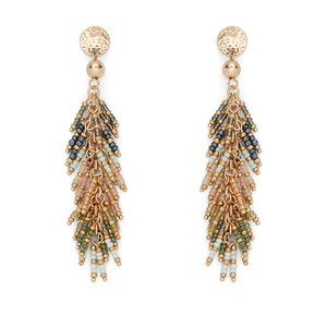 Aster Fern Drop Earrings