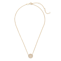 Ava Rose Cheyenne Necklace in Gold and Iridescent Druzy