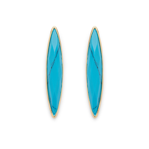 Gorjana Palisades Studs in Gold and Turquoise