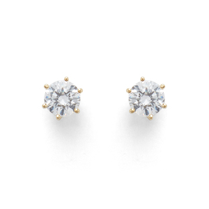 Sophie Harper Crystal Studs in Gold
