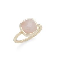 Aster Zinnia Ring in Rose Quartz