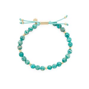 Gorjana Power Gemstone Beaded Bracelet in Russian Amazonite and Gold