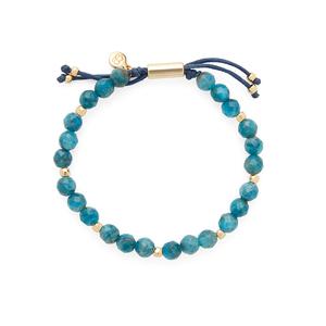 Gorjana Power Gemstone Beaded Bracelet in Apatite and Gold