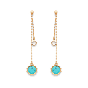 Aster Birch Drop Earrings in Turquoise