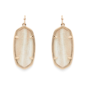 Kendra Scott Elle Earrings in Gold Dusted Glass