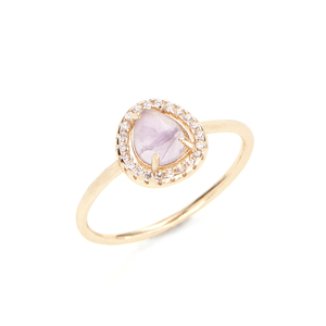 Aster Cosmos Ring in Amethyst & Gold